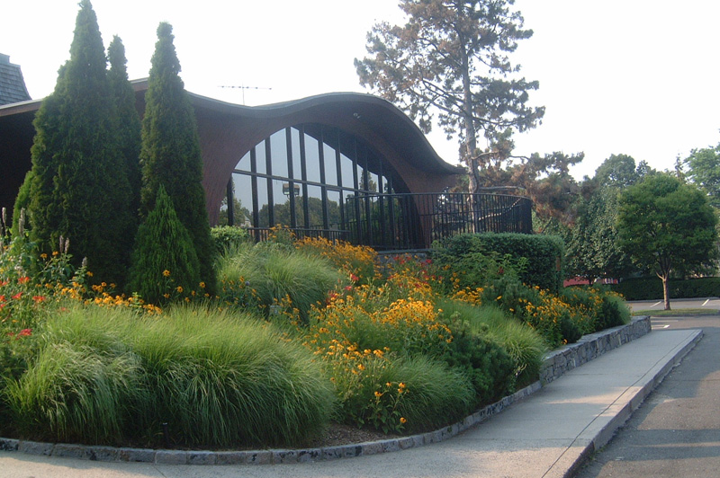 perennial gardens at library
