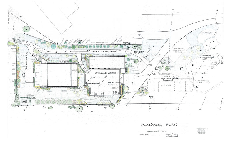 Site and Planting Plan -- Jamestown, R.I.